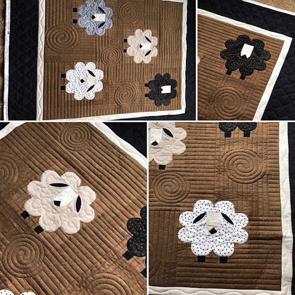 Sheep Quilt by Melissa Hoffman of FiddleStitches