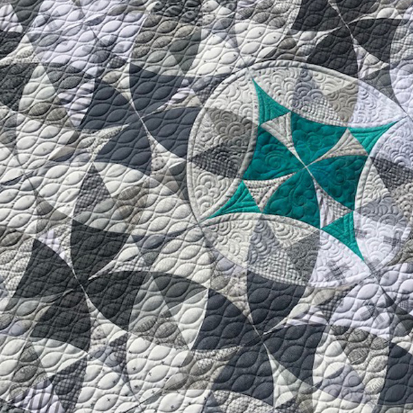 Teal Star by Melissa Hoffman of FiddleStitches