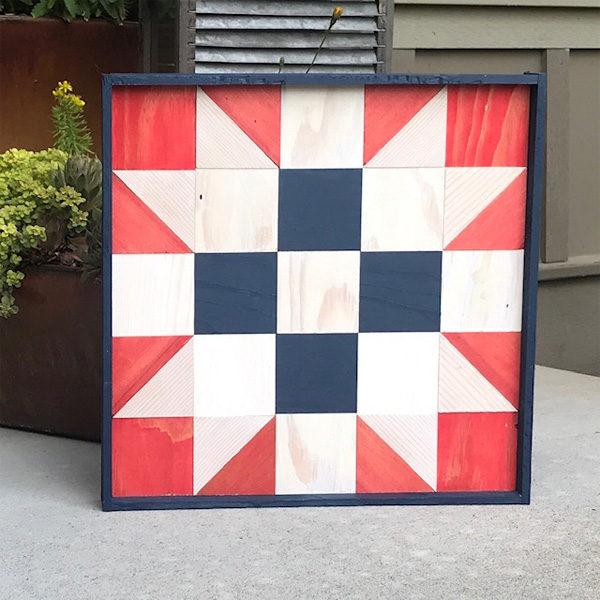 Wooden Quilt Block by Melissa Hoffman