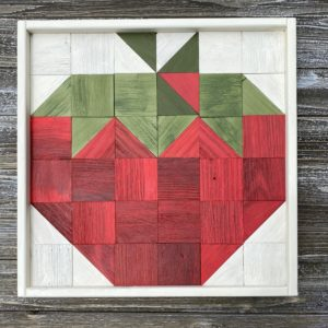 Strawberry Wooden Art