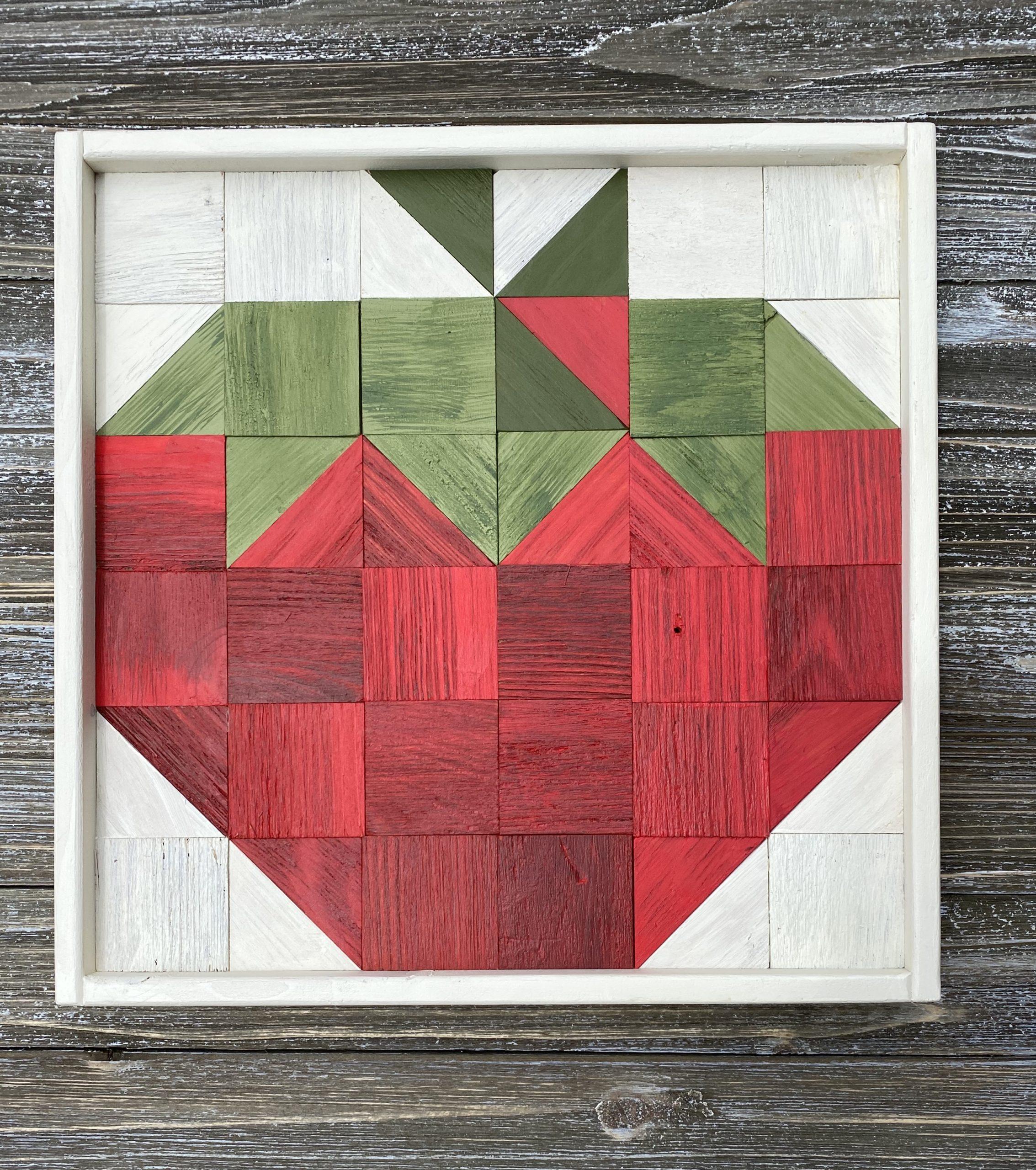 Strawberry Wooden Art